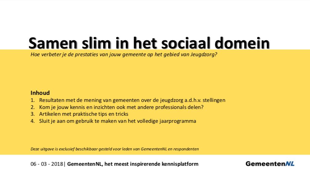 onderzoek samen slim in het sociaal domein
